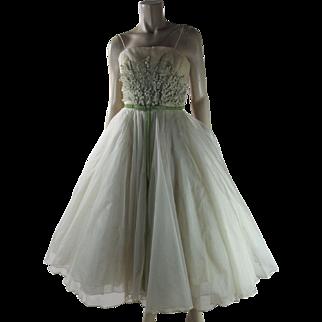 Dreamy 1950's Vintage Helena Barbieri Evening Dress