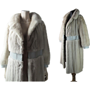 1970's Vintage Christian Dior For Holt Renfrew Silver Mink Coat