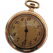 1930's Vintage 18K Yellow Gold 18 Jewel Ladies Pendant / Pocket Watch By Bailey, Banks And Biddle