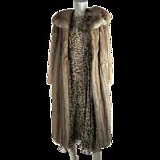 Luscious 1970's Vintage Calf Length Pastel Mink Coat