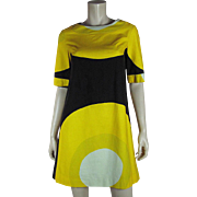 Vintage Dated 1967 Marimekko Design Research Trapeze Dress