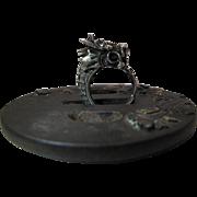Antique Chinese Silver Dragon Ring Circa 1910