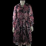 Colorful 1970's Vintage Oscar de La Renta Lamé Dress