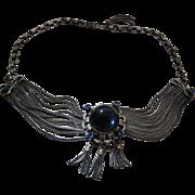 Elegant 1930's Vintage German 800 Silver Necklace With Slide - Pendant