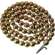 Antique Victorian 14K Gold Bead Choker Necklace