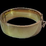 Vintage 3/4-Inch Wide 12K Gold-Filled Bangle Bracelet