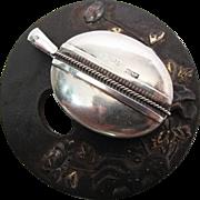 Antique Victorian Sterling Silver Locket With Birmingham 1879 Hallmarks
