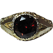 Antique Victorian 14K Gold Rhodolite Garnet Ring Size 12