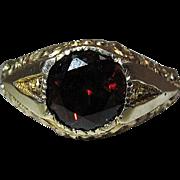 Antique Victorian 14K Gold Rhodolite Garnet Ring Size 12