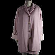 Vintage Circa 1990 Versace Atelier Beaded Pink Coat And Dress Ensemble