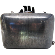 1980's Vintage Pierre Cardin Gunmetal Shoulder Bag / Clutch