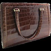Vintage Hermès Crocodile Pullman Handbag