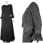 1960's Sybil Connolly Horizontally Pleated Two Piece Dress