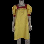 1970's Yves Saint Laurent Rive Gauche Peasant Dress