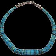 Vintage Pueblo Turquoise Heishi Necklace