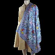 1970's Emanuel Ungaro Large Silk Scarf / Shawl
