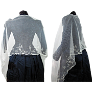 Lovely Antique Victorian Princesse Lace Shawl