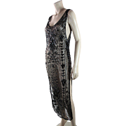 Art Deco 1920's Vintage Sequined Tabard Style Evening Dress