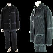 Vintage Issey Miyake Pleated Black Jacket