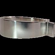 Hans Hansen Vintage Danish Silver Cuff Bracelet