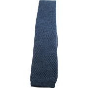 Vintage Chanel Mens Blue Wool Knit Necktie
