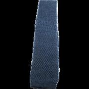 Vintage Chanel Mens Blue Wool Knit Necktie