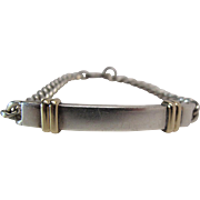 "Vintage Tiffany Sterling Silver And 14K Gold ""Always"" I.D. Bracelet Dated 1986"