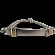 """Vintage Tiffany Sterling Silver And 14K Gold """"Always"""" I.D. Bracelet Dated 1986"""