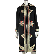 Wonderful 1920's Vintage Hand Embroidered Art Deco Coat With Passementerie