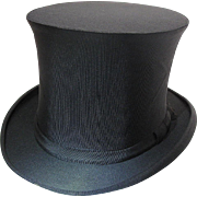Crisp Antique Extra Quality Dieuet Mon Droit Collapsible Top Hat In Original Box