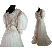 Frothy Edwardian Belle Epoque Gown With Train