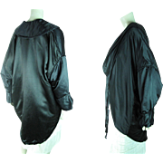 Elegant Circa 1930 Silk Charmeuse Cocoon Style Evening Coat In Original Box