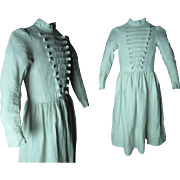 Antique 1870's Child's White Piqué Dress