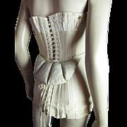 Antique 1890's Victorian Cotton Bustle Pad