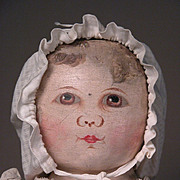 "19"" Early Columbian Cloth Doll, Emma Adams"