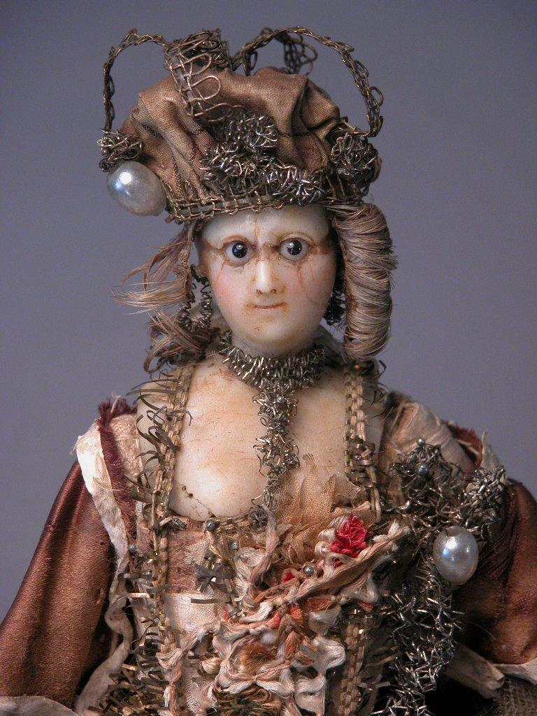 11 1 2 Quot 18th Century Portrait Doll In Wax Of Royal Figure