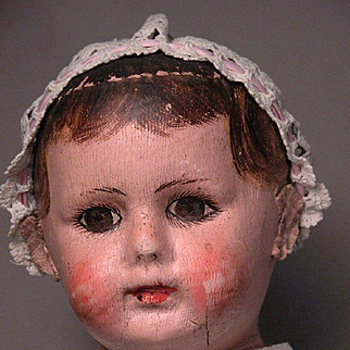 "24"" Alabama Baby Cloth Doll in Grand Size with Bare Feet"