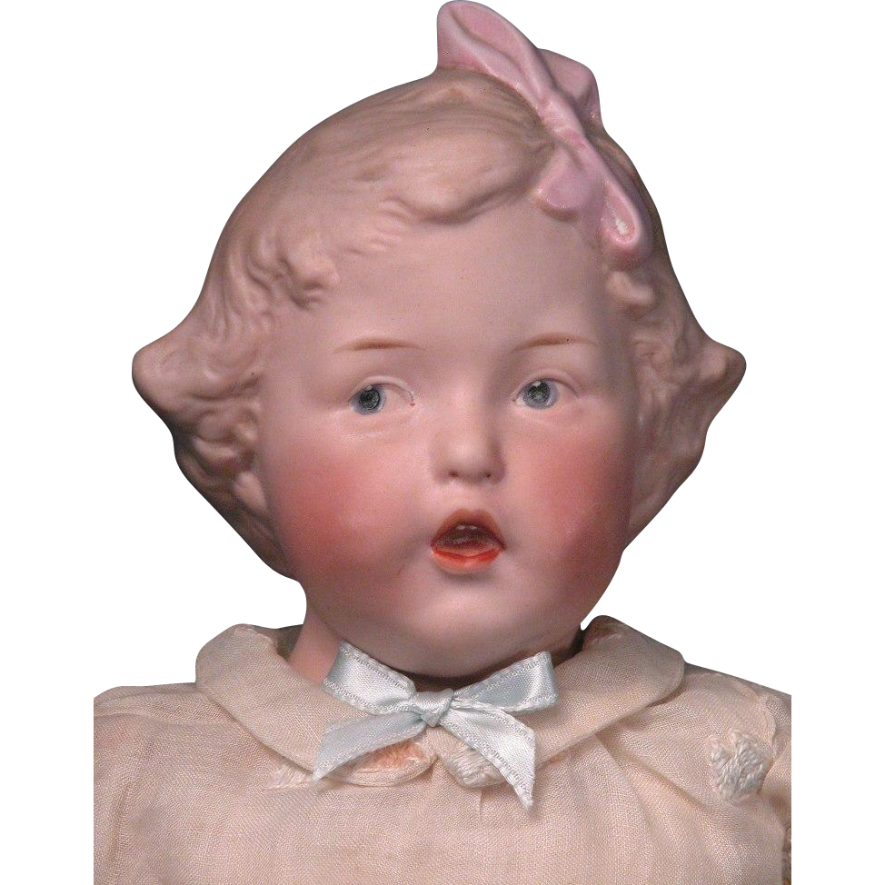 "16"" Super Rare Gebruder Heubach Singing Girl Character"