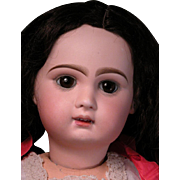 """24 1/4"""" Tete Jumeau Bebe with Open Mouth and Marked Body"""