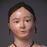 "23 1/2"" Unusual French Paper Mache ""Poupee Paris"" circa 1820"