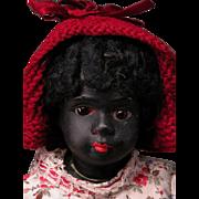 """9"""" Gebruder Kuhnlenz Ebony All-Bisque Child"""