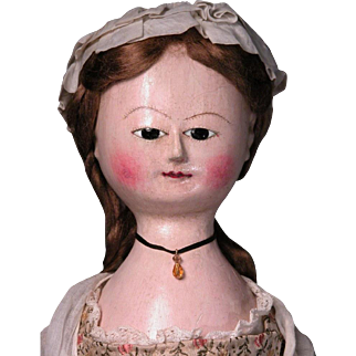 "21 1/2"" English Wooden Lady Georgian Queen Anne"