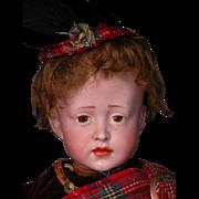 "15"" Rare Simon Halbig 150 Character in Original Scottish Kilt Costume"
