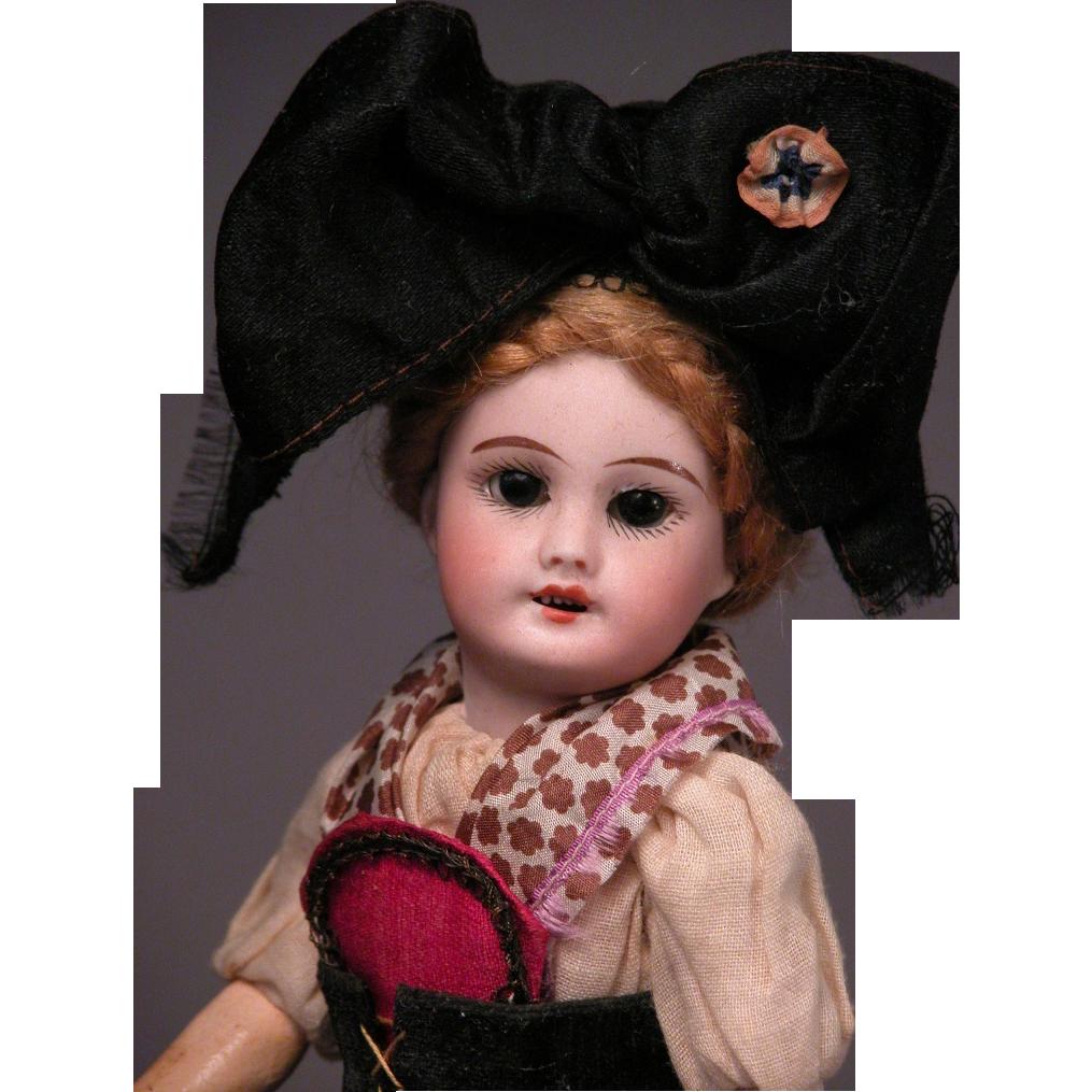 "8 1/2"" SFBJ 301 in Original Costume of Alsace France"