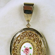 "Vintage ""1928"" Large Locket Pendant – c. 1970s"