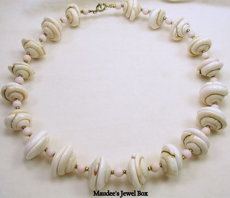 Vintage Authentic Shell and Beaded Necklace