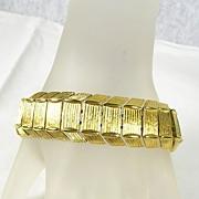 Monet Vintage Link Bracelet in Gold Tone – c.1970