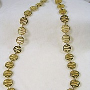 Vintage Asian Inspired Disc Chain Necklace