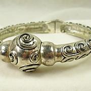 Vintage Silver  Tone Bangle Bracelet