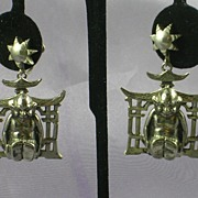 Vintage Buddha Earrings – Large Silvertone